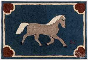 Two hooked rugs