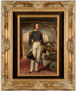 Oil on canvas portrait of a military officer