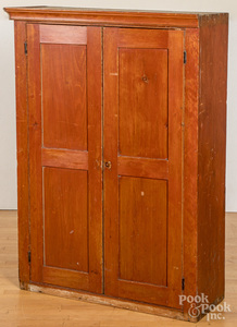 Stained pine cupboard