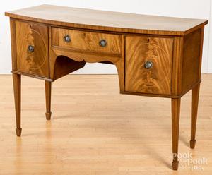 George III style inlaid mahogany sideboard