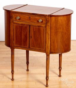 Pennsylvania Sheraton mahogany sewing stand