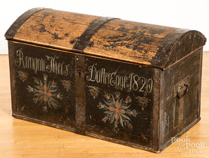 Painted pine immigrants chest