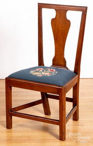 Southern Chippendale walnut dining chair