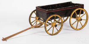 Painted childs pull cart