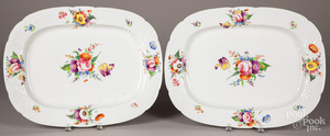 Pair of large Staffordshire platters