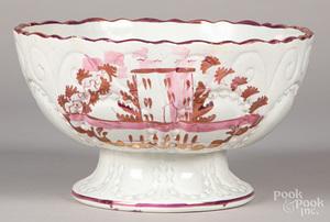 Pink lustre centerpiece bowl