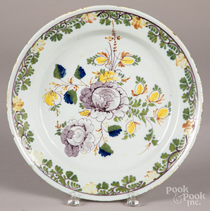Polychrome Delft charger