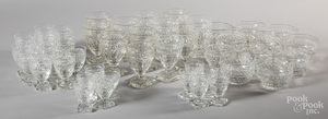 Early glass stemware, probably Waterford.