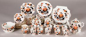 Porcelain Imari palette dinner service