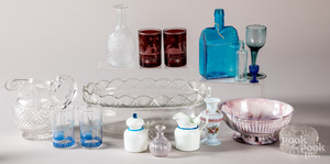 Group of decorative glass.