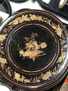 Partial Canton enamel serving dish set, etc.