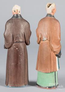 Rare pair of China Trade pottery nodders