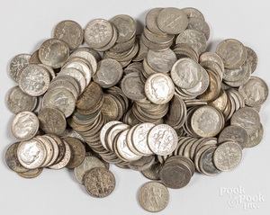 Silver Roosevelt dimes, 17.8 ozt.