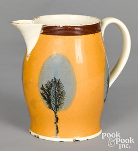 Mocha pitcher, with seaweed decoration