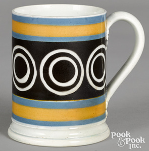 Mocha mug, with bullseye design