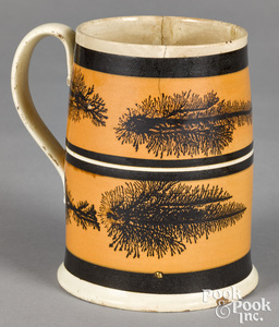 Mocha mug, with seaweed decoration