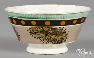 Mocha bowl, with seaweed and dot decoration