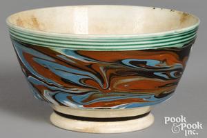 Mocha bowl, with marbleized glaze