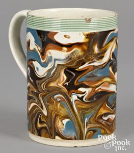 Mocha mug, with marbleized glaze