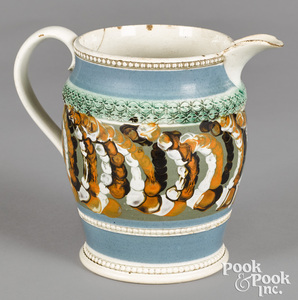 Mocha pitcher, with earthworm style decoration