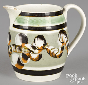 Miniature mocha pitcher, with earthworm decoration