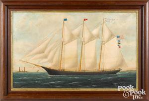 William Pierce Stubbs oil on canvas ship portrait