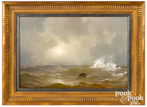 Attributed to William Trost Richards seascape