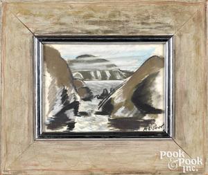 Henry Varnum Poor pastel coastal scene