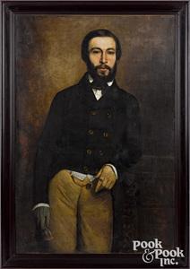 Andre Charles Voillemot oil on canvas portrait