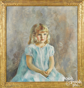 Henriette (Hurd) Wyeth oil on canvas portrait
