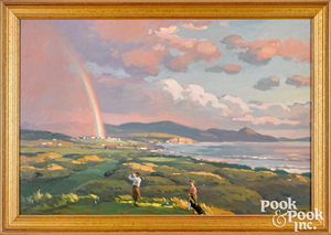John C. Traynor oil on canvas landscape