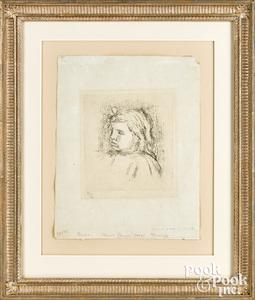 Pierre Auguste Renoir soft-ground etching