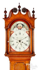 Lancaster, Pennsylvania cherry tall case clock