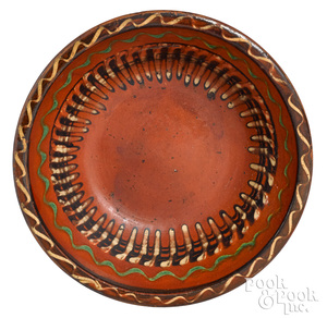 Hagerstown, Maryland redware bowl, early 19th c.