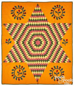 Vibrant Bethlehem Star quilt