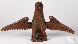 Attributed to Aaron Mountz spread winged eagle