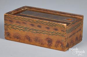Pennsylvania painted poplar slide lid box