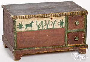 Diminutive Ohio Mennonite painted blanket chest