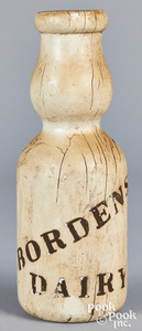 Painted Bordens Dairy milk bottle trade sign
