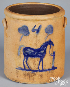 Midwest stoneware crock, 19th c.