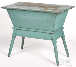 Painted poplar doughbox table, 19th c.