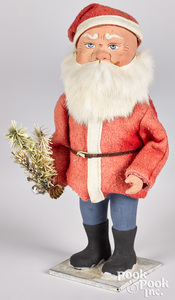 German composition Santa Claus candy container