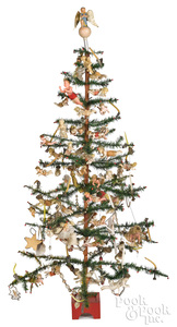 Decorated German feather tree