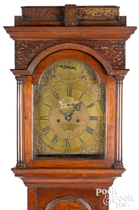 Pennsylvania William and mary tall case clock