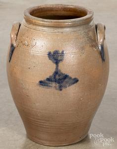 Mid-Atlantic stoneware crock, 19th c.