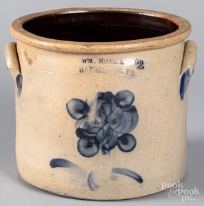 Pennsylvania two-gallon stoneware crock