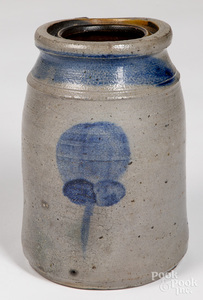 Western Pennsylvania stoneware canning jar, 19th c