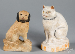 Two pieces of Pennsylvania chalkware, 19th c.