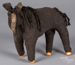 Mennonite cloth toy horse, early 20th c.