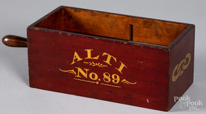 Painted fraternal lodge voting box, late 19th c.